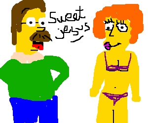 Maude stripping for Ned Flanders