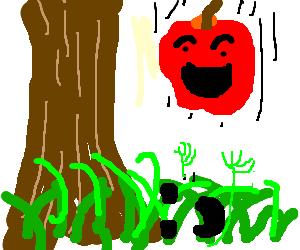 The Apple is happy to finally meet the Grass.