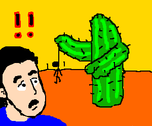 Cactus tells a man to hang himself