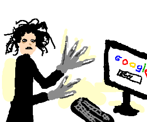 Ed.Scissorhand is sad: he can't search on google