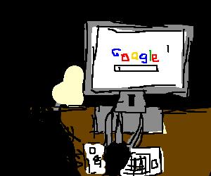 Edward scissor hands can't use google