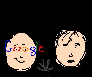 Google-eyed man meets Edward Scissorhands