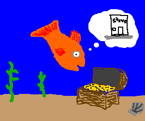 Fish finds treasure, dreams of starting business