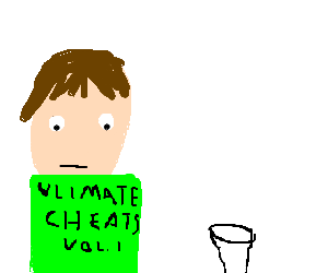 glass of milk, and a cheater
