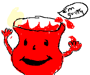 Kool-Aid Man admits his guilt