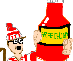 Waldo creates FREEEEDOM sauce.
