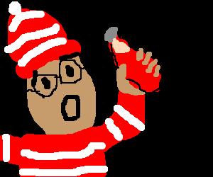 "Waldo is exited by ""Freeeedom"" sauce."