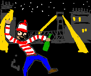 Waldo escapes from prison while drinking a beer