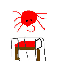 Red giant Tick on a prison bed