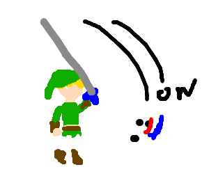 Link violently slashes a white dog in face