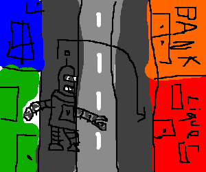 Why did the robot cross the road?
