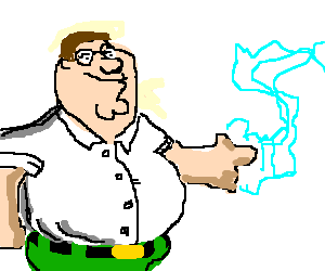 peter griffin shootin electricity out his finger