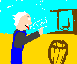 Hillbilly Einstein guzzles moonshine