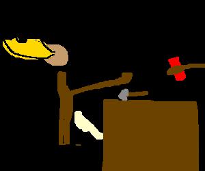 Thor Trades In His Hammer For A Nail Gun