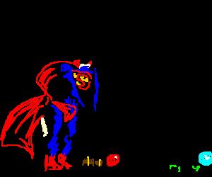 Superman playing croquet