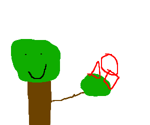 Trees swapping shapes, collectable!