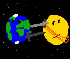 Earth VS Moon - Drawception