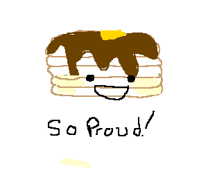 A pile of pancakes is conscious, and proud of it