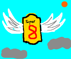 A flying Super 8