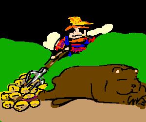 Farmers enjoy bear's potatoes