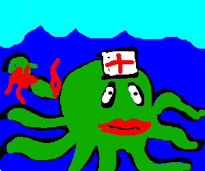 injured octopus nurse