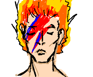 Ziggy Stardust with Hair on Fire