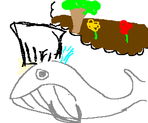 Whale becomes chef but wants to garden instead