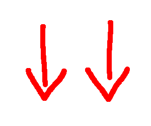 Image result for arrows pointing down