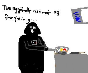 Darth Vader in cooking show