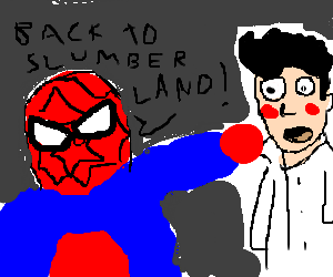 Spiderman punches Little Nemo from 10 paces.