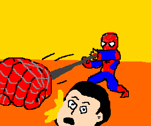 spidermans new Ejecto-Fists!