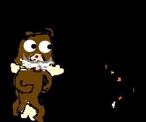 Old Pedobear sees babies