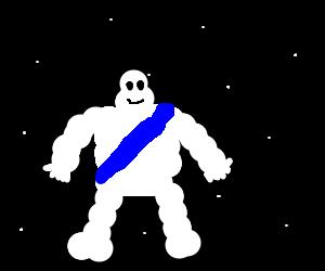 Michelin tire guy...IN SPACE!!!