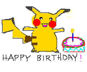 Pikachu happy birthday
