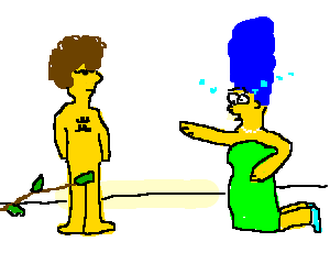 Marge's heart got broken by a naked disco stu