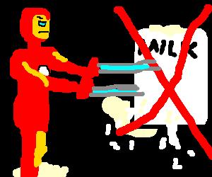 Iron Man battles and defeats lactose intolerance