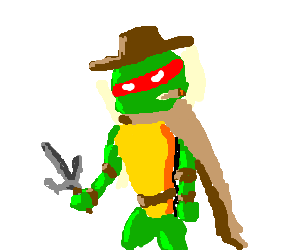 one of the TMNT copying Clint Eastwood