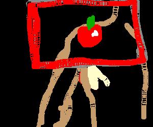 Red flag = Apple skin on shoulder