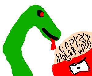 Snake eating crazy Zoidberg's brain