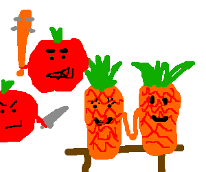 tomatoes going to kill a pinaple couple