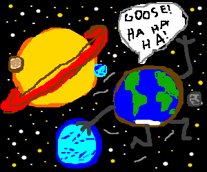 Earth thrashes other planets at duck duck goose