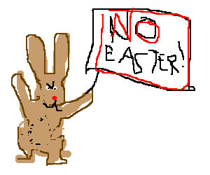 the bunny protest against Easter