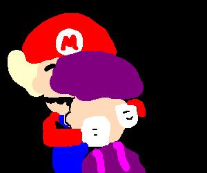 Mario having a bad mushroom trip - Drawception