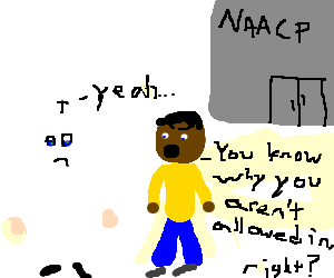 KKK member sad after getting kicked out of NAACP