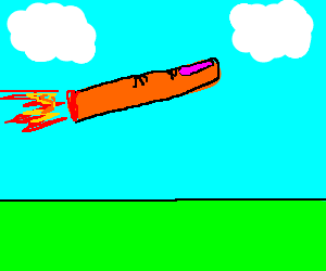 Dismembered finger rocketing through the sky