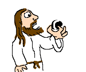 Jesus eats Oreo cookie