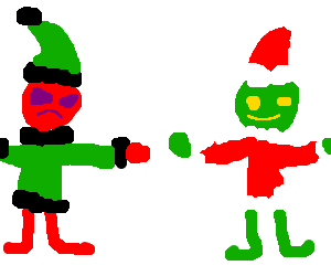 Grinch has an twin and he is red wearing green
