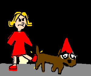 kicked the dog