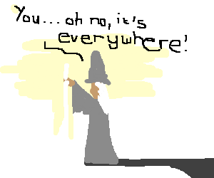 Gandalf tells space not to pass