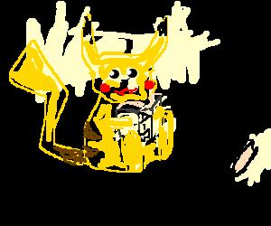 Pikachu discovers a dictionary